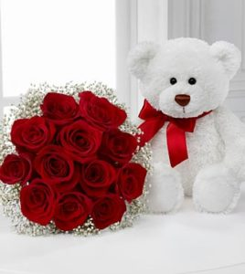 Imágenes de amor con rosas y peluches tiernos