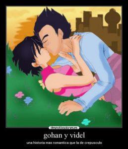 imagenes de gohan y videl enamorados