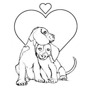 Imágenes de Perros para Dibujar de amor