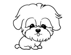 Imágenes de Perros para Dibujar e imprimir