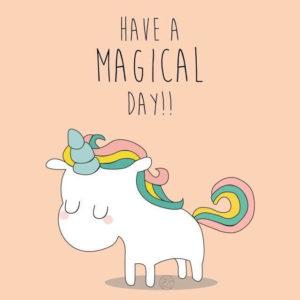 imagenes de unicornios con frases en inglés