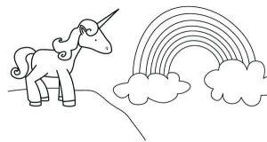 imagenes kawaii para dibujar de unicornios