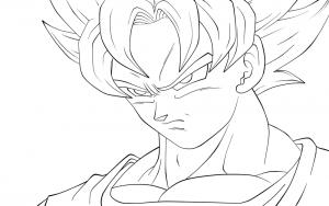 Imagenes De Goku Para Dibujar Colorear Listas Para Imprimir