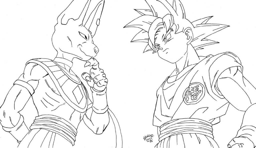 Imágenes De Goku Para Dibujar Colorear Listas Para