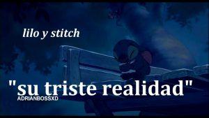 imagenes de stitch triste con frases