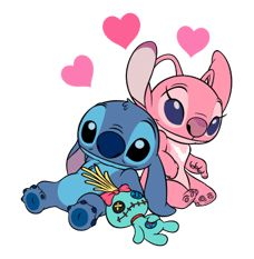 imagenes de stitch y su novia