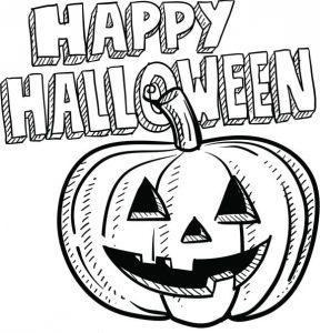 imágenes de halloween para colorear en ingles