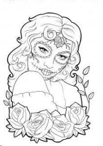 imagenes de catrinas para dibujar para descargar