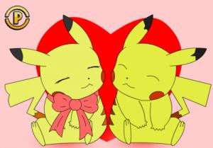 imagenes de pikachu de san valentín
