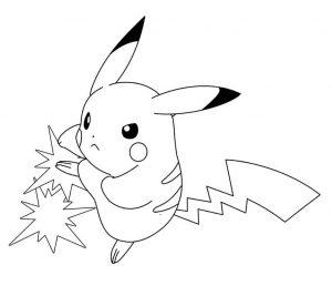 imagenes de pikachu para descargar y colorear