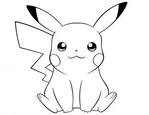 imagenes de pikachu para dibujar gratis