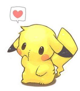 Imágenes De Pikachu Muy Bonitas Con Frases Kawaii Y Para Colorear