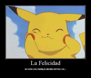 pikachu la felicidad
