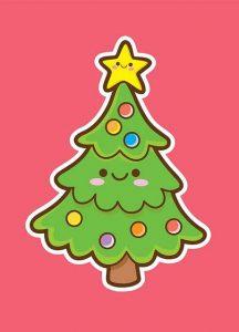 árbol de navidad kawaii