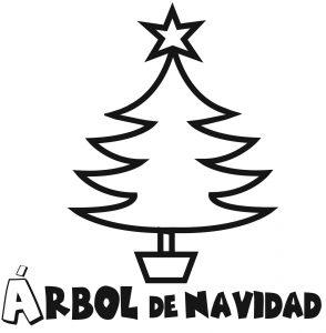 árbol de navidad para colorear