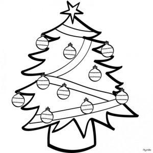 Imágenes de Árboles de Navidad para colorear