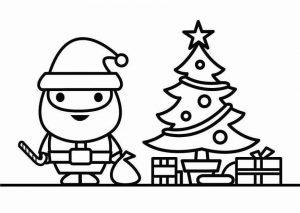 arbol de navidad con santa claus
