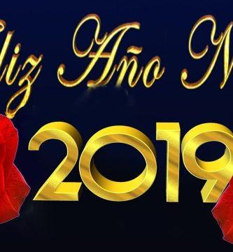feliz año nuevo 2019 con rosas