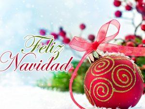 feliz navidad con esferas