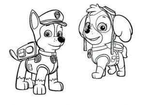 imágenes de patrulla canina para colorear