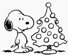 imagenes de snoopy para colorear de navidad