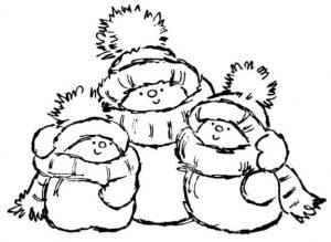 muñecos de nieve kawaii