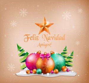 postales de feliz navidad amigos