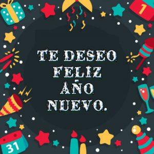 te deseo feliz año nuevo