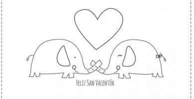 Imágenes de San Valentín para Colorear feliz san valentin