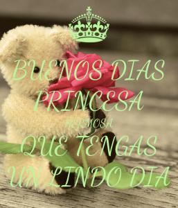 Imágenes de buenos Días Princesa para dedicar