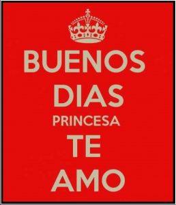 Imágenes de buenos Días Princesa te amo