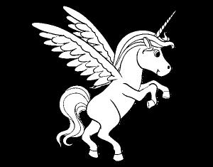 colorear de unicornios