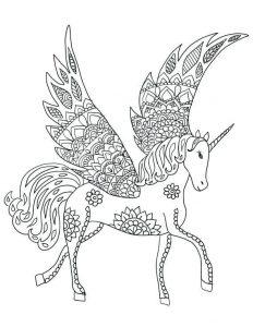 imágenes para colorear de unicornios 2019