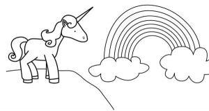 imágenes para colorear de unicornios