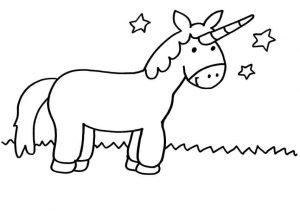 imágenes para colorear de unicornios bonitos