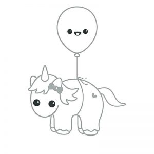 imágenes para colorear de unicornios infantiles