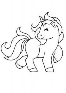 imágenes para colorear de unicornios lindas