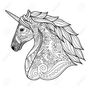 imágenes para colorear de unicornios mandala