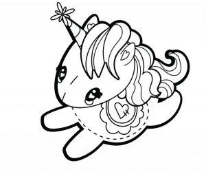 imágenes para colorear de unicornios para bajar