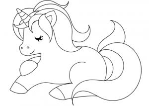 imágenes para colorear de unicornios para descargar