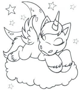 imágenes para colorear de unicornios para niñas