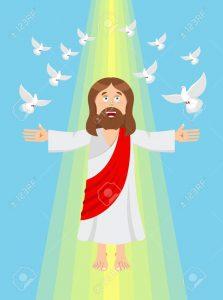 imagenes de dios en el cielo para niños