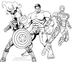 Imágenes De Los Vengadores Para Colorear Imprimir Dibujar