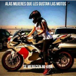 imágenes con frases y motos
