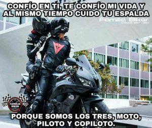 imágenes de motos con frases de amor