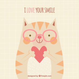 me gusta mucho tu sonrisa