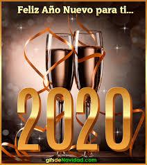feliz año nuevo 2020 animadas