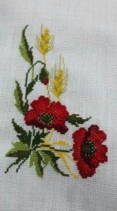 Imágenes de punto de cruz de flores