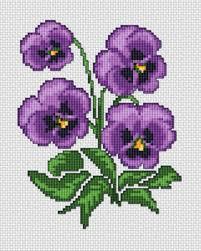 Imágenes de punto de cruz de flores bonitas par descargar