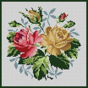 Imágenes de punto de cruz de flores bonitas para bajar